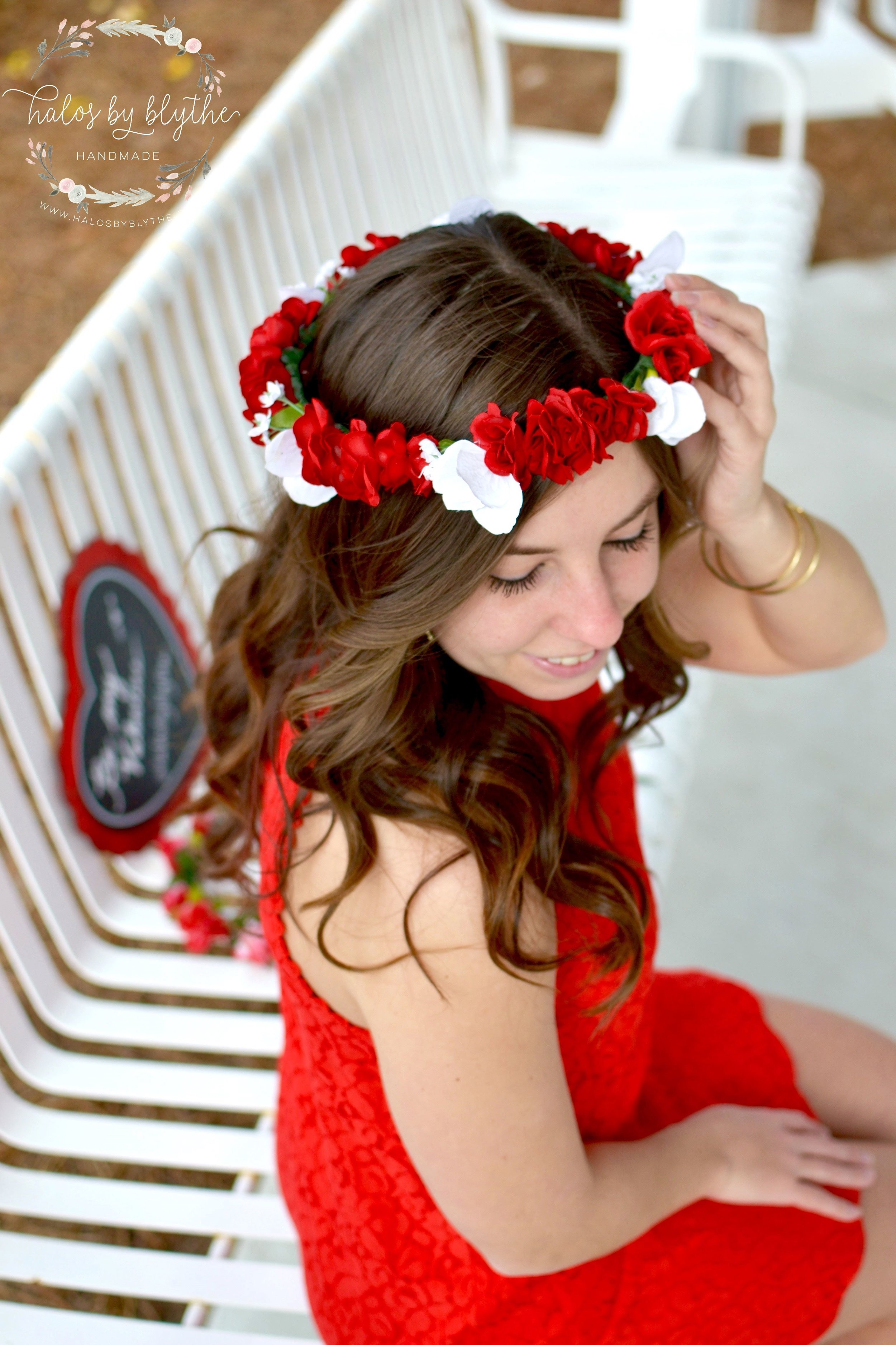 Cupid's Heart floral halo