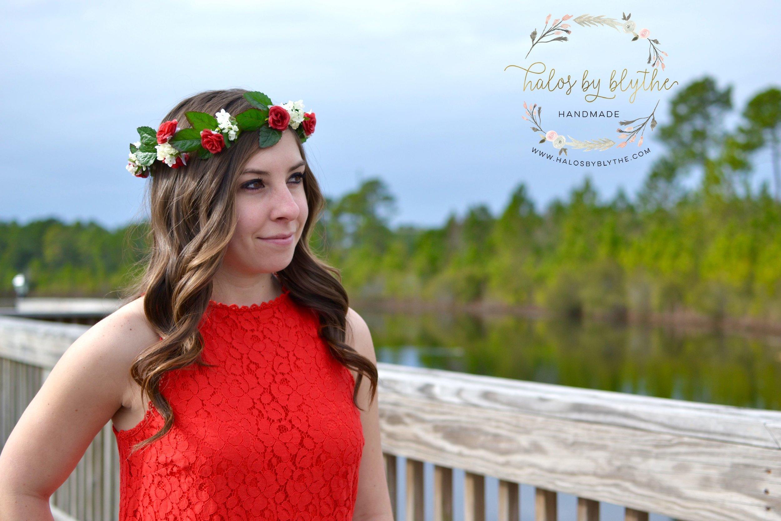 Claire floral halo