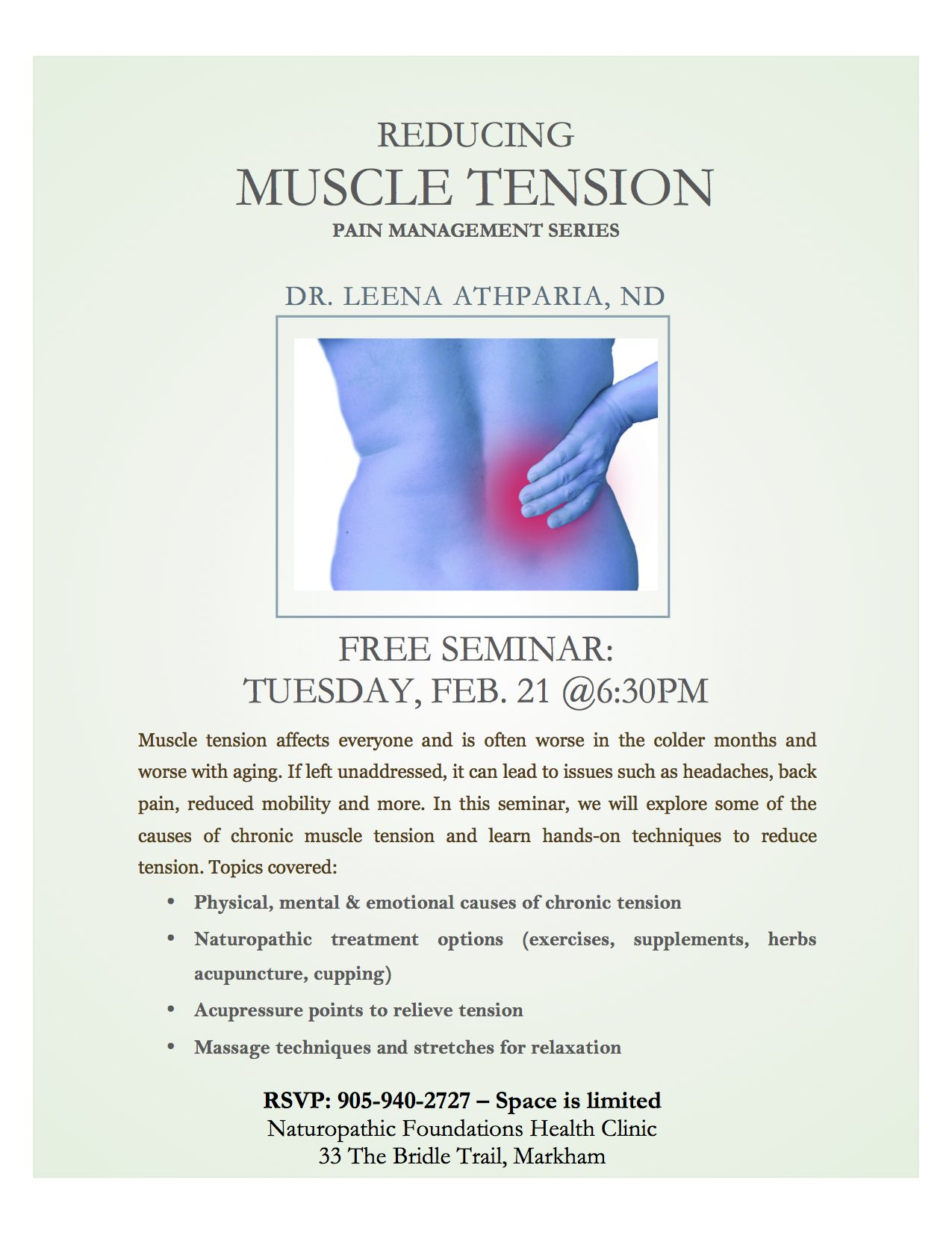 Reducing Muscle Tension