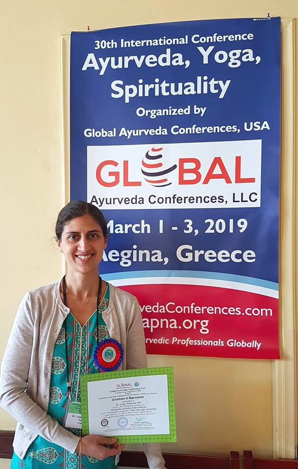 Featured Speaker at Global Ayurveda Conference in Greece, 2019 presenting on the Similarities between Greek medicine & Ayurveda