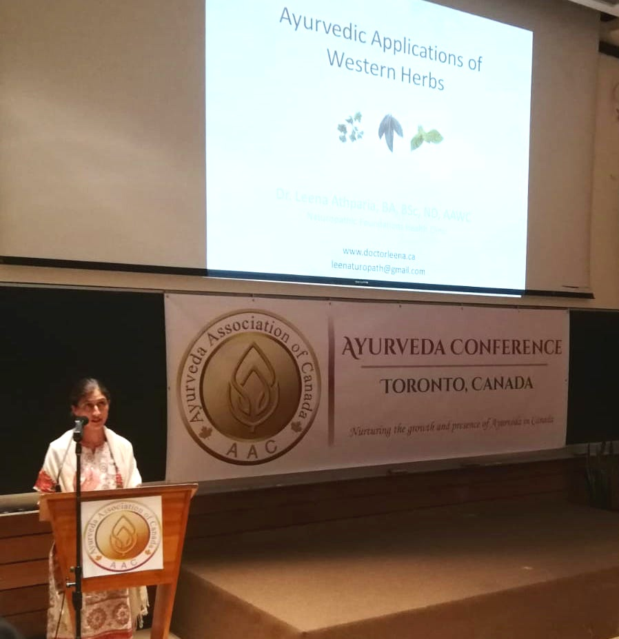 Presenting at AAC 2018 in Toronto on Ayurvedic Application of Western Herbs
