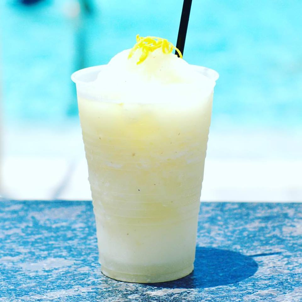 Frozen cocktail by the pool