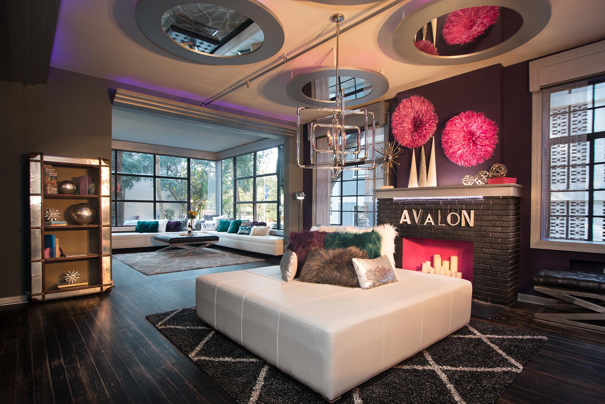 Lobby of Avalon Hotel