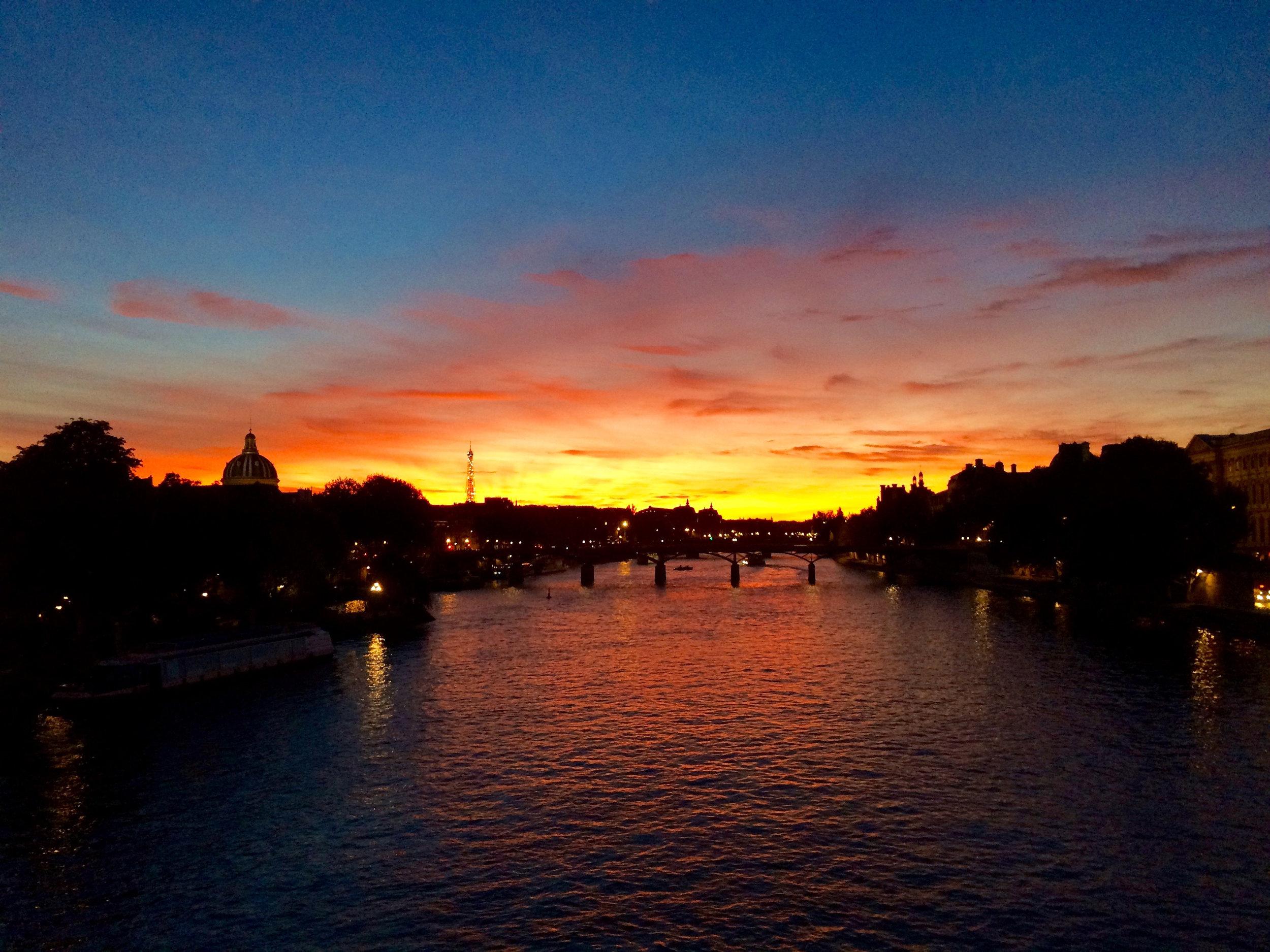 Fire over the Seine