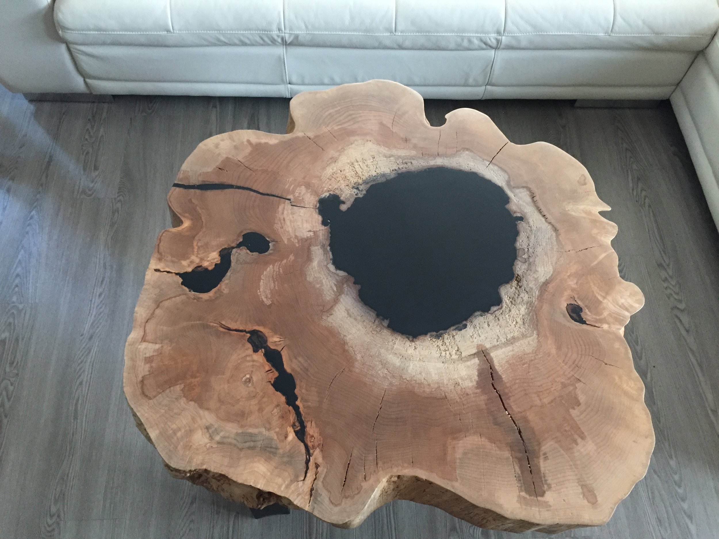 """Fire In The Hole"" Maple Coffee Table"