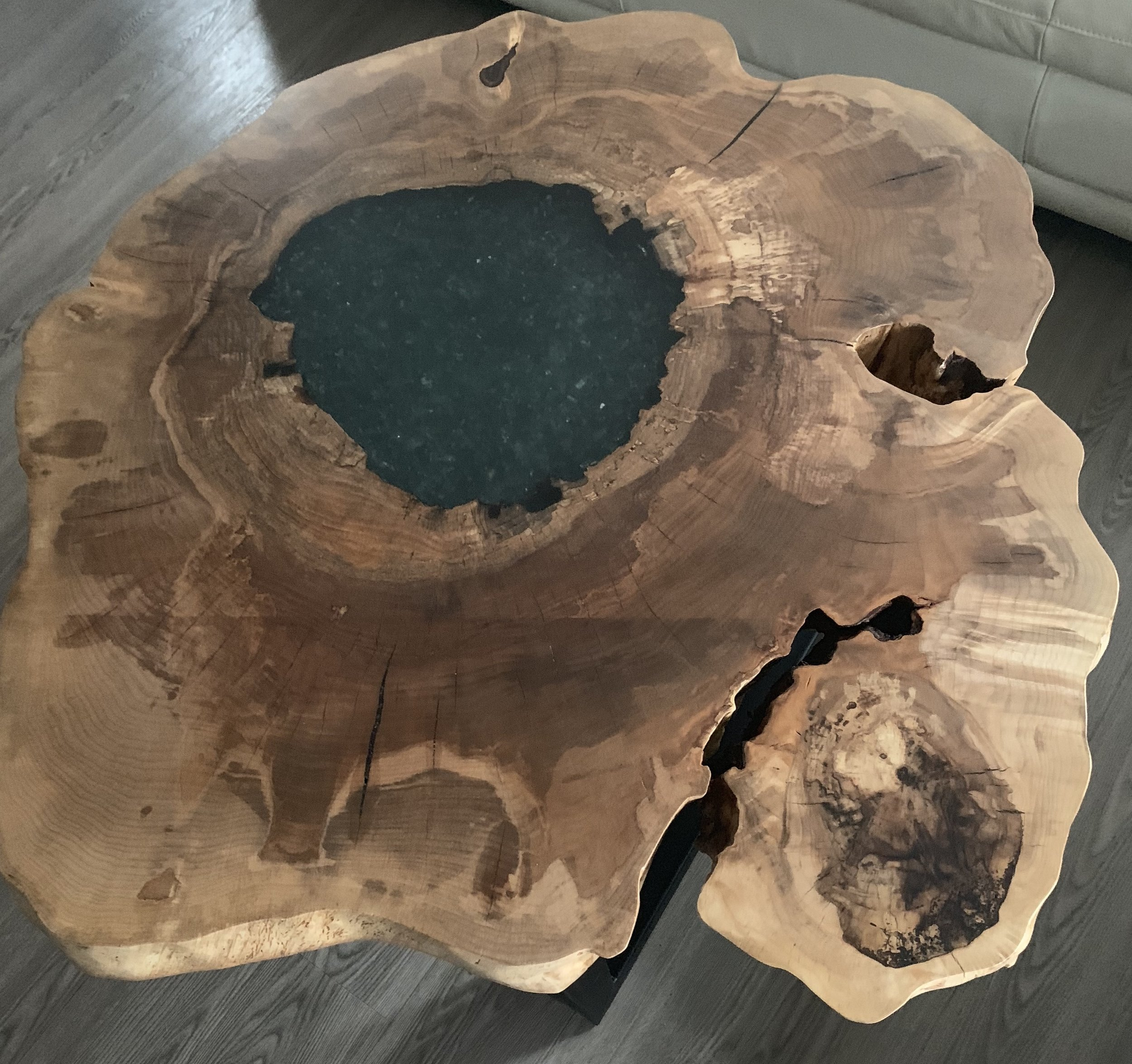 "Maple ""Fire In The Hole"" Coffee Table"