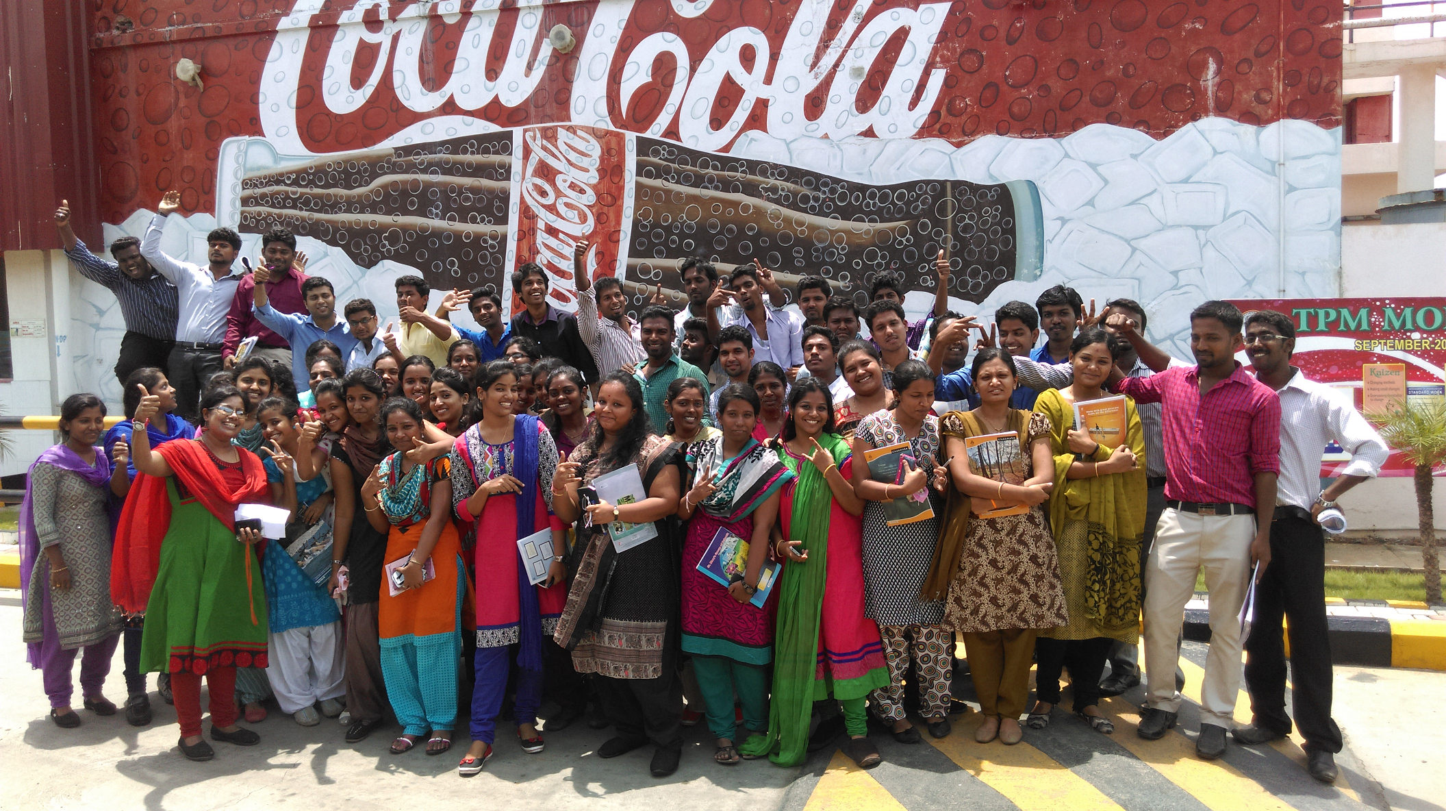 """VISIT TO """"COCO-COLA"""""""
