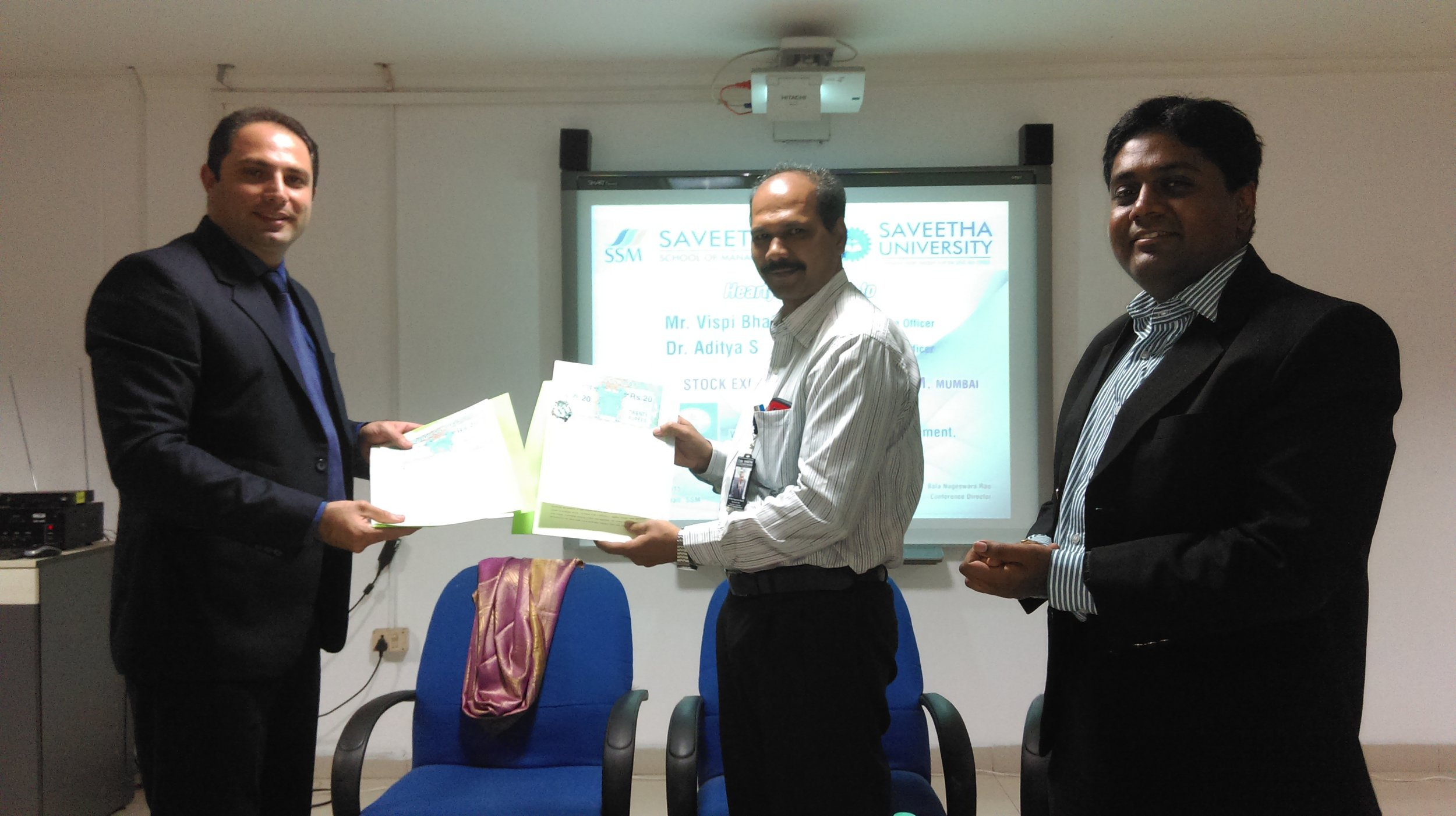 MOU with Bombay Stock Exchange Brokers Forum, Mumbai