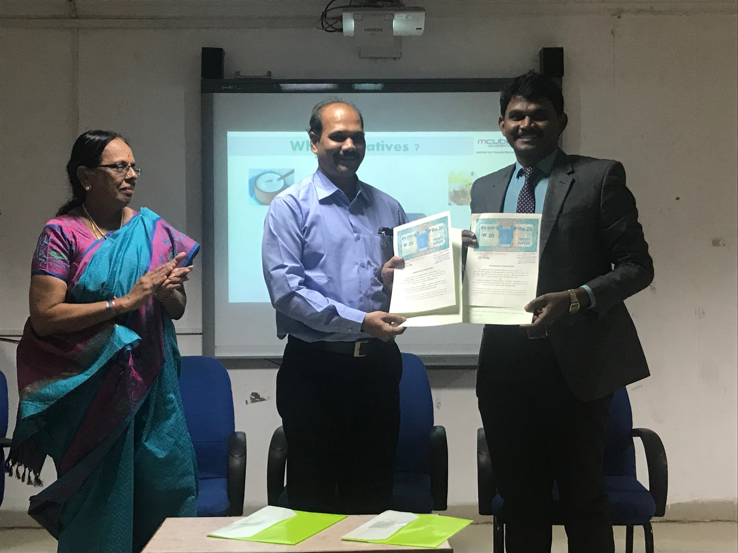 MOU with M Cube Academy of Skill Development