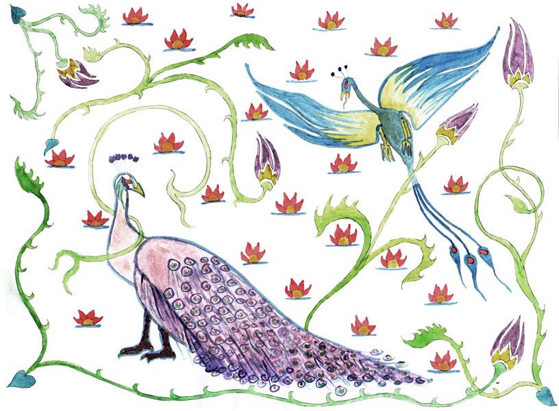 Original Peacock Watercolor