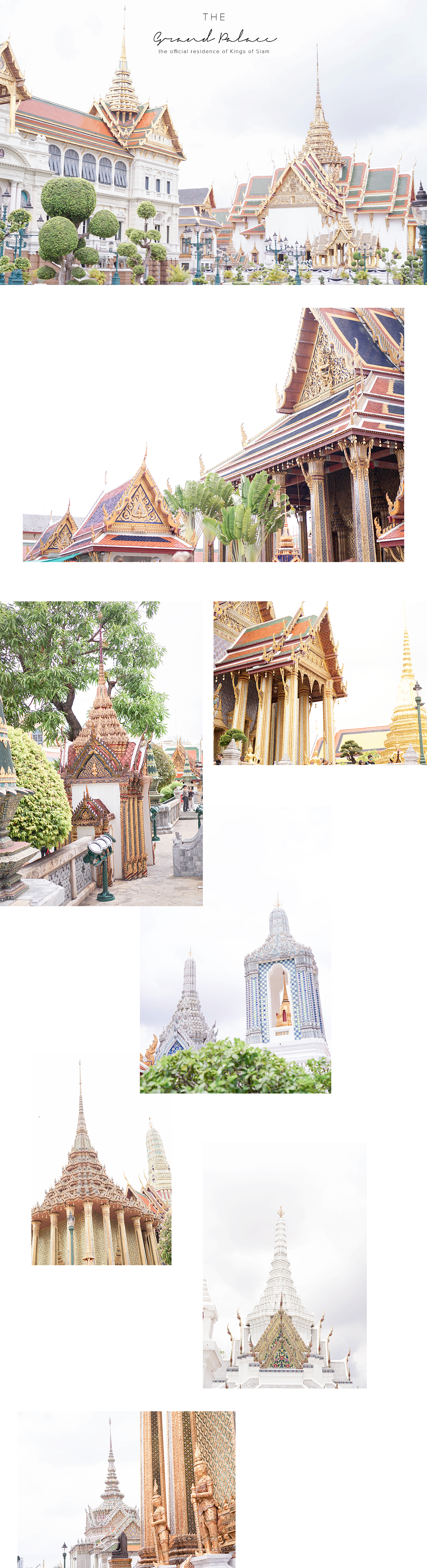 Where to go in Bangkok: THE GRAND PALACE - the official residence of Kings of Siam since 1782.