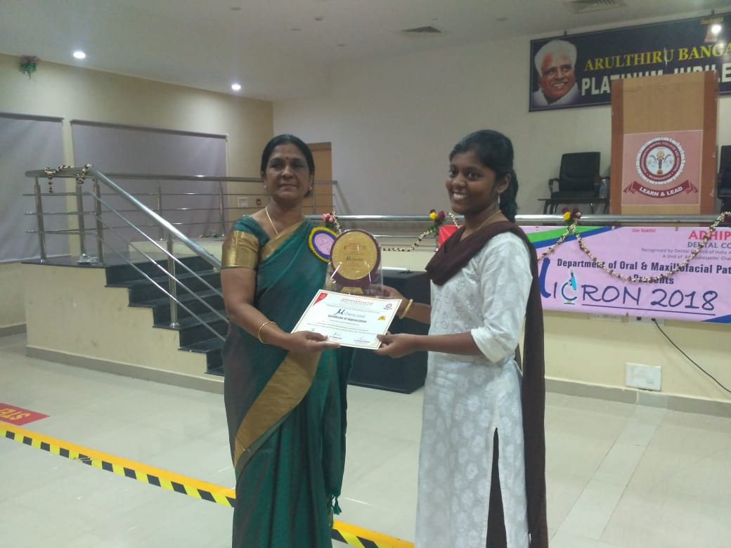 Best Research Award to Dr. Hannah Grace