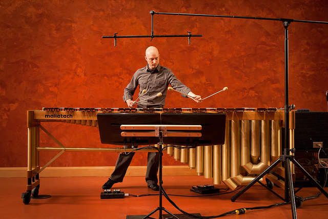 Nathaniel on marimba. Experience more of Nathaniel's work on his website: nathanielbartlett.com .