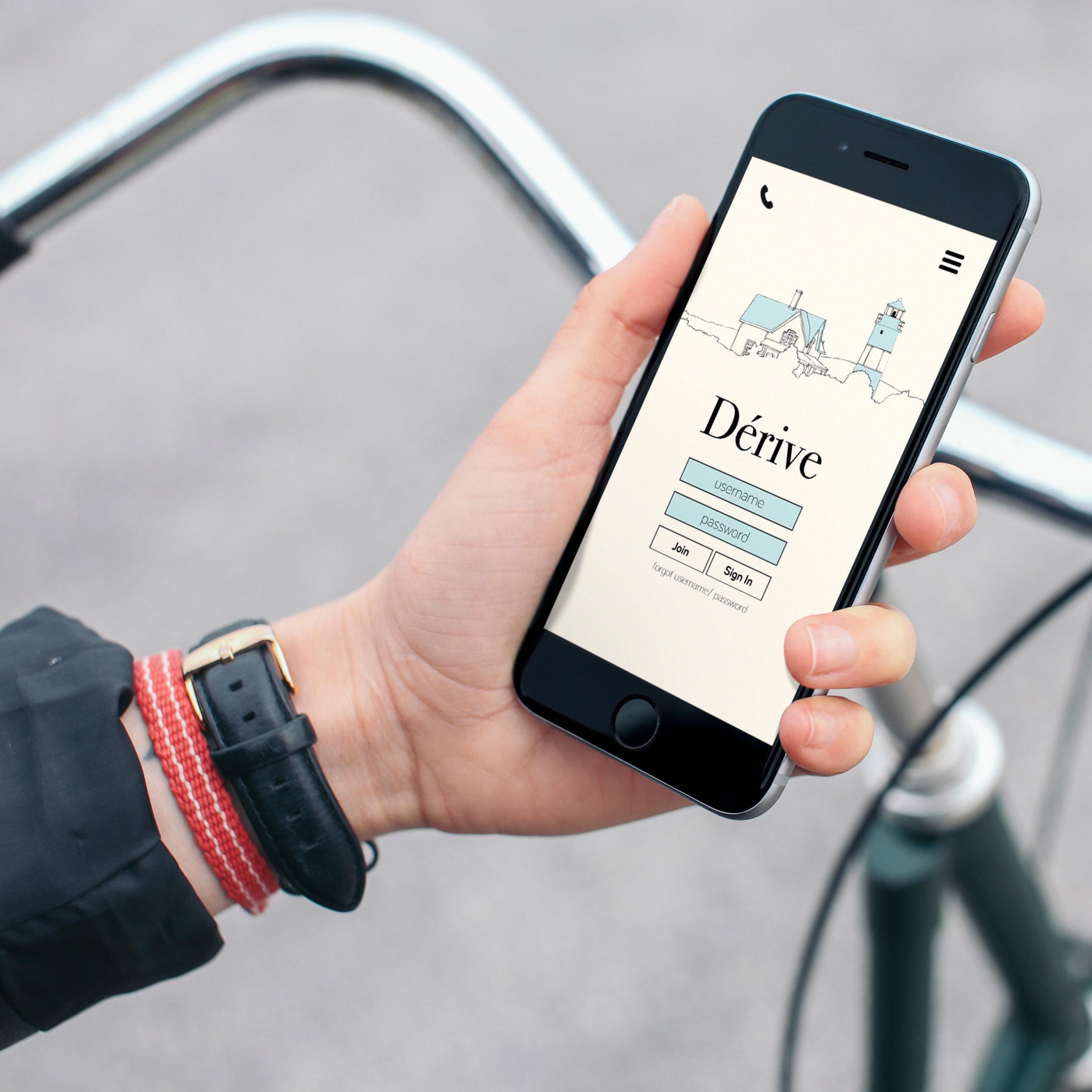 App interface design for Dérive