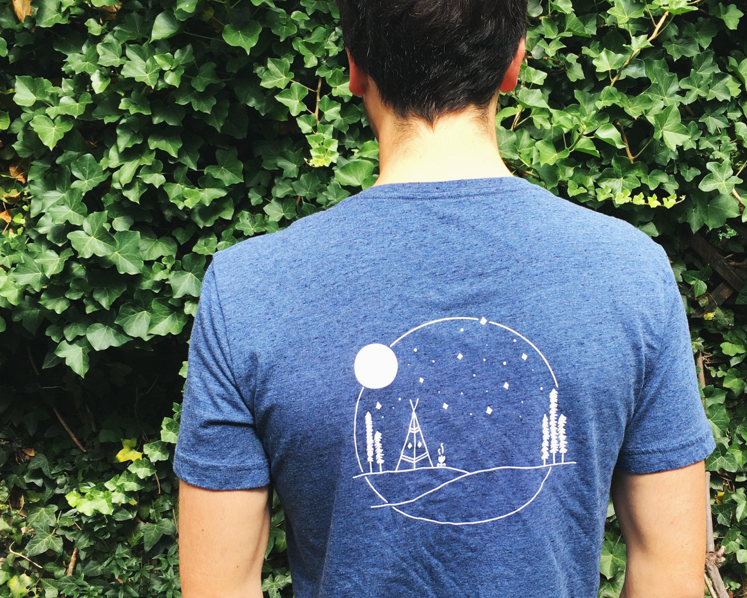 Back design on a T-shirt