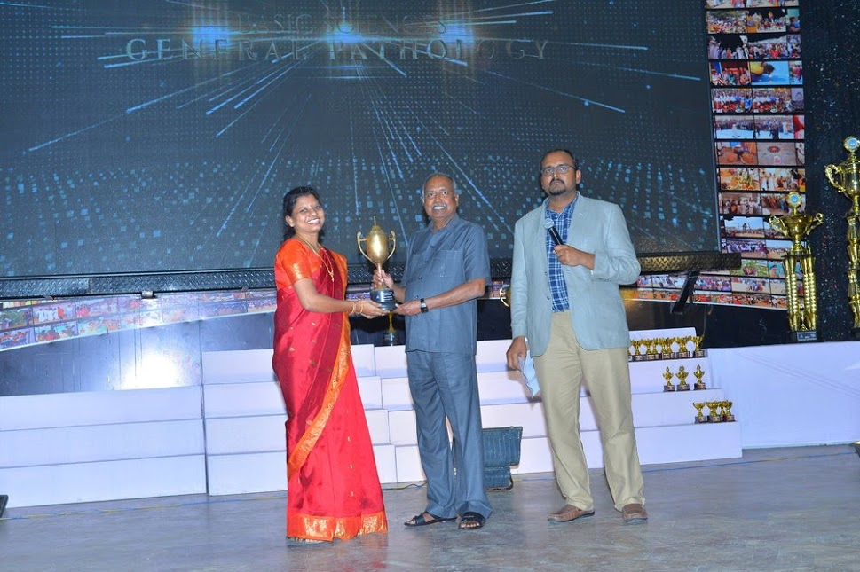 Awarded for Highest academic score for 2016-17 academic year.(Dr.M.P.Brundha is receiving the award from the Respected Chancellor)    UNIVERSITY RANK 8 among all the departments of all the colleges under Saveetha Institute of Medical and Technical Sciences (SIMATS)