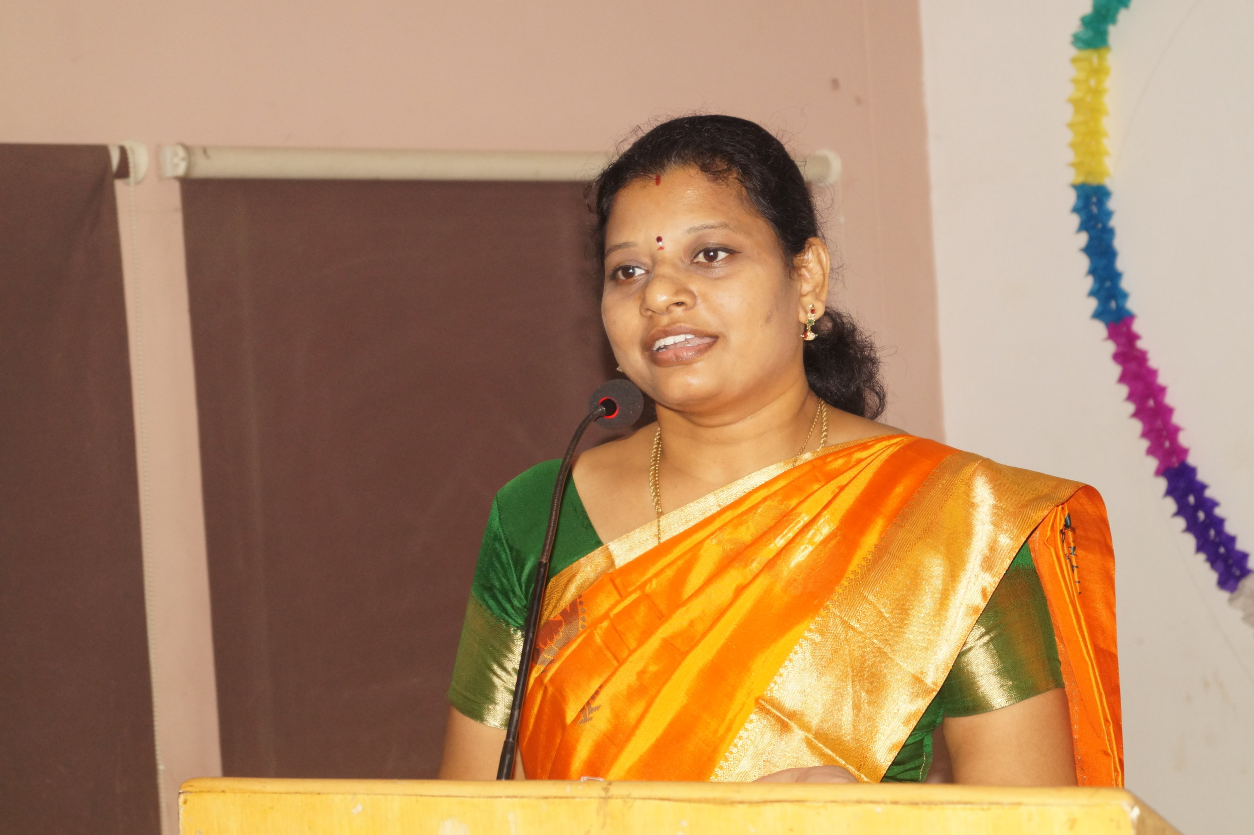 Dr. M.P. Brundha, Professor and Head, addressing the Gathering
