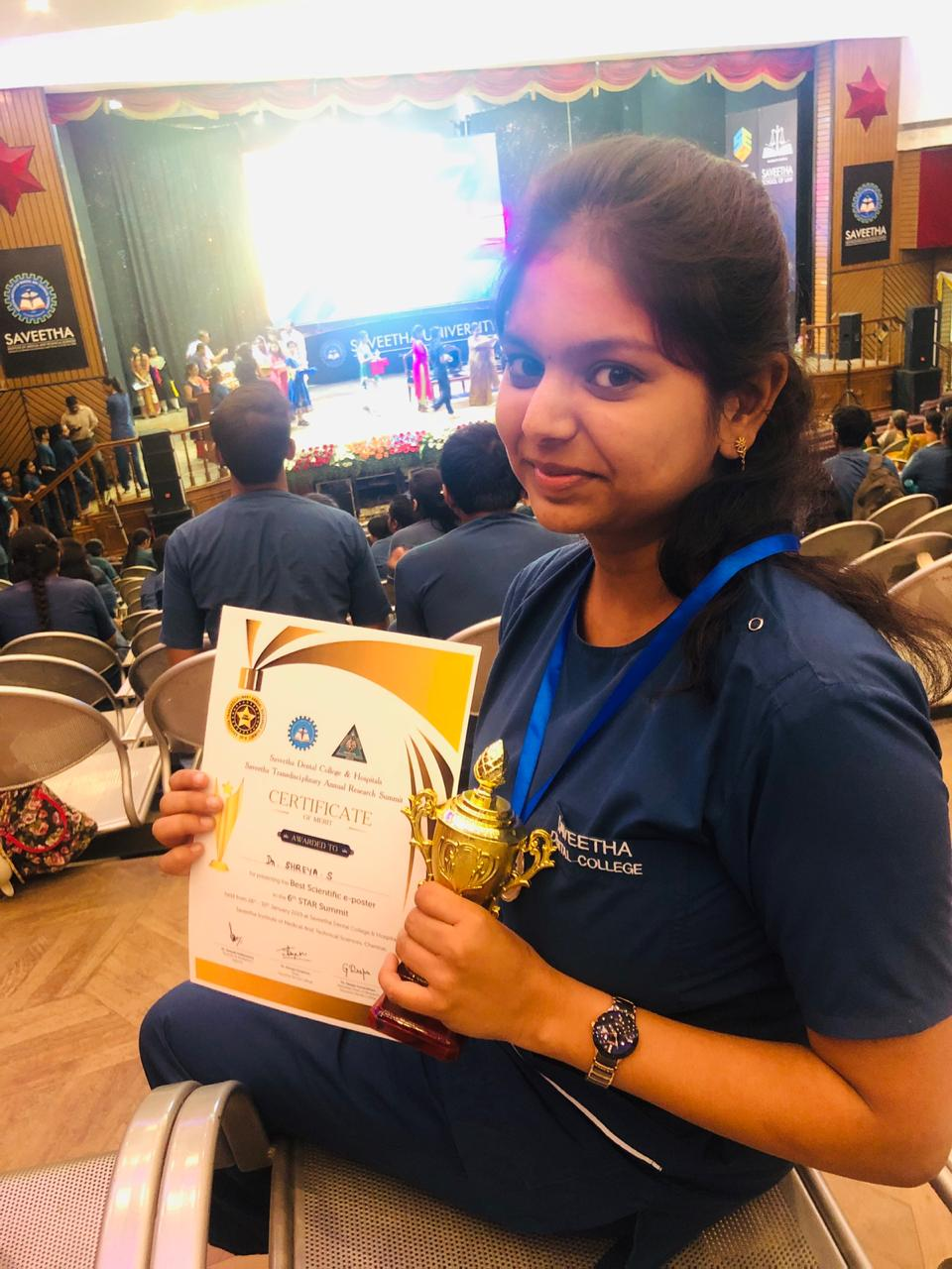 Dr. SHREYA, CRRI won the BEST RESEARCH AWARD in STAR SUMMIT 2019