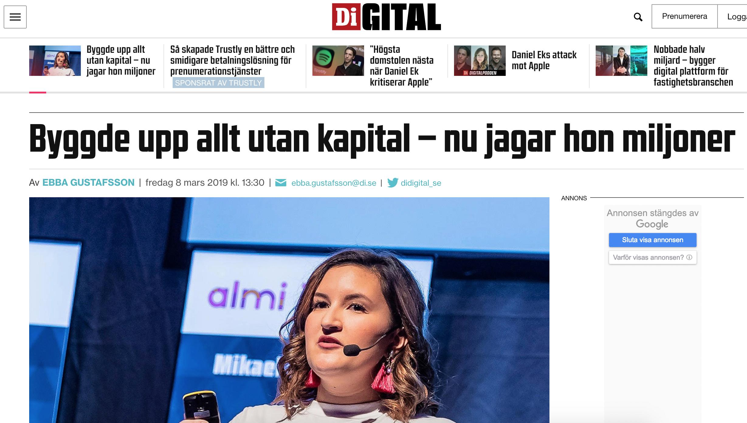 Didigital.di.se, March 2019