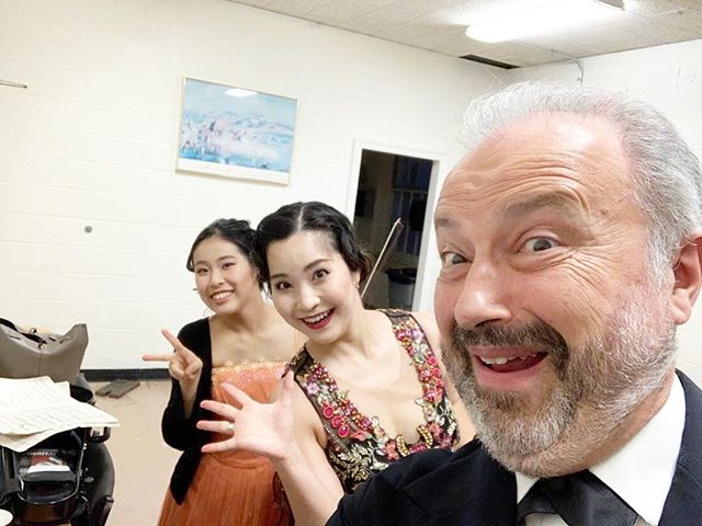#repost @dsitkovetsky ・・・ Before the Opening Concert of 2019-20 season with Mayuko Kamio & Risa Hokamura. Vivaldi/S.Saens#3, Lalo & Sarasate: Violin Virtuoso Program!!!