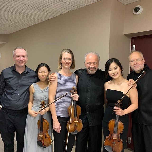 #repost @dsitkovetsky ・・・ After the Chamber Concert last night with Mayuko, Risa, Marjorie, Scott & Alex