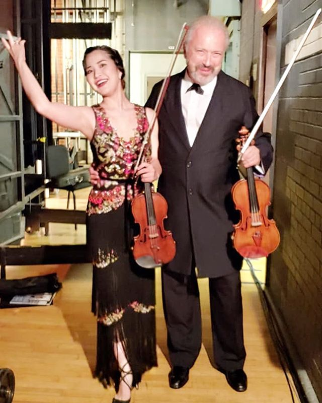 @greensborosymphony @risahokamura_violin @dsitkovetsky Thank you for the fantastic week! What a fun program! #classicalmusic#violin#orchestra #greensborosymphony#mayukokamio#dmitrysitkovetsky