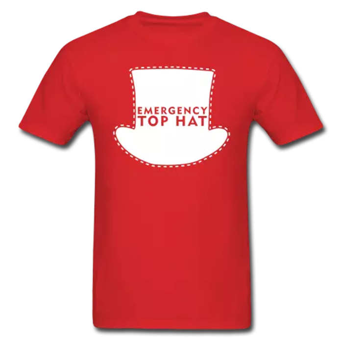 EMERGENCY  tee insp. by  Top Hat Snow Day