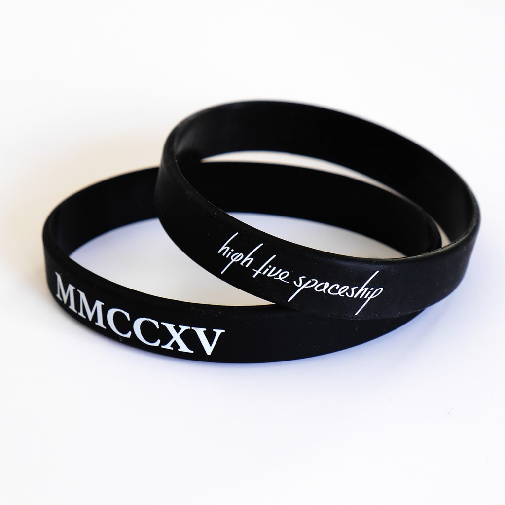 Official HIGH FIVE SPACESHIP wristbands celebrating the release of  MMCCXV