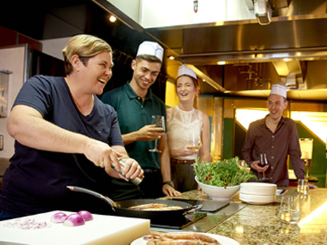 A cooking class hosted by Grass Tree Kitchen