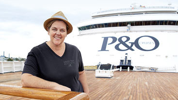 Grass Tree Kitchen's Prue Daly aboard P&O's Pacific Aria