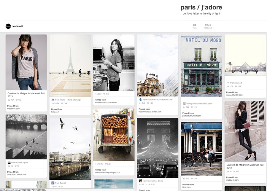 Pinterest strategies by Nellaino I Madewell Paris board
