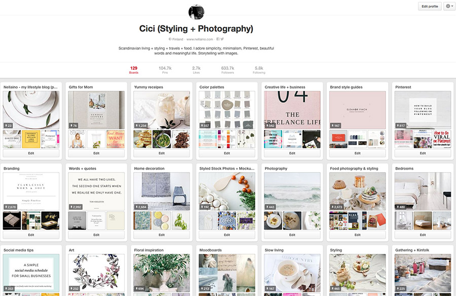 Pinterest strategies by Nellaino