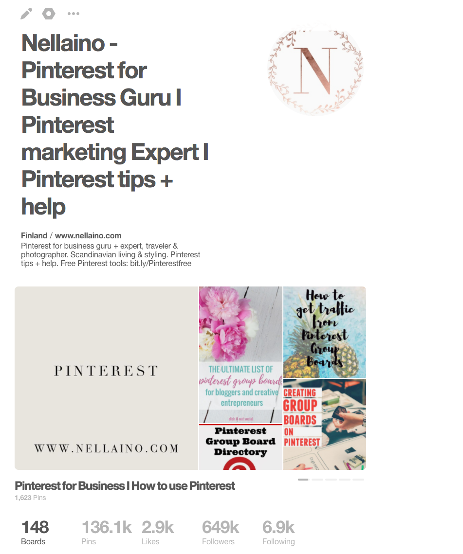 Pinterest showcase is a new Pinterest feature. Read more from: www.nellaino.com/pinterest-showcase