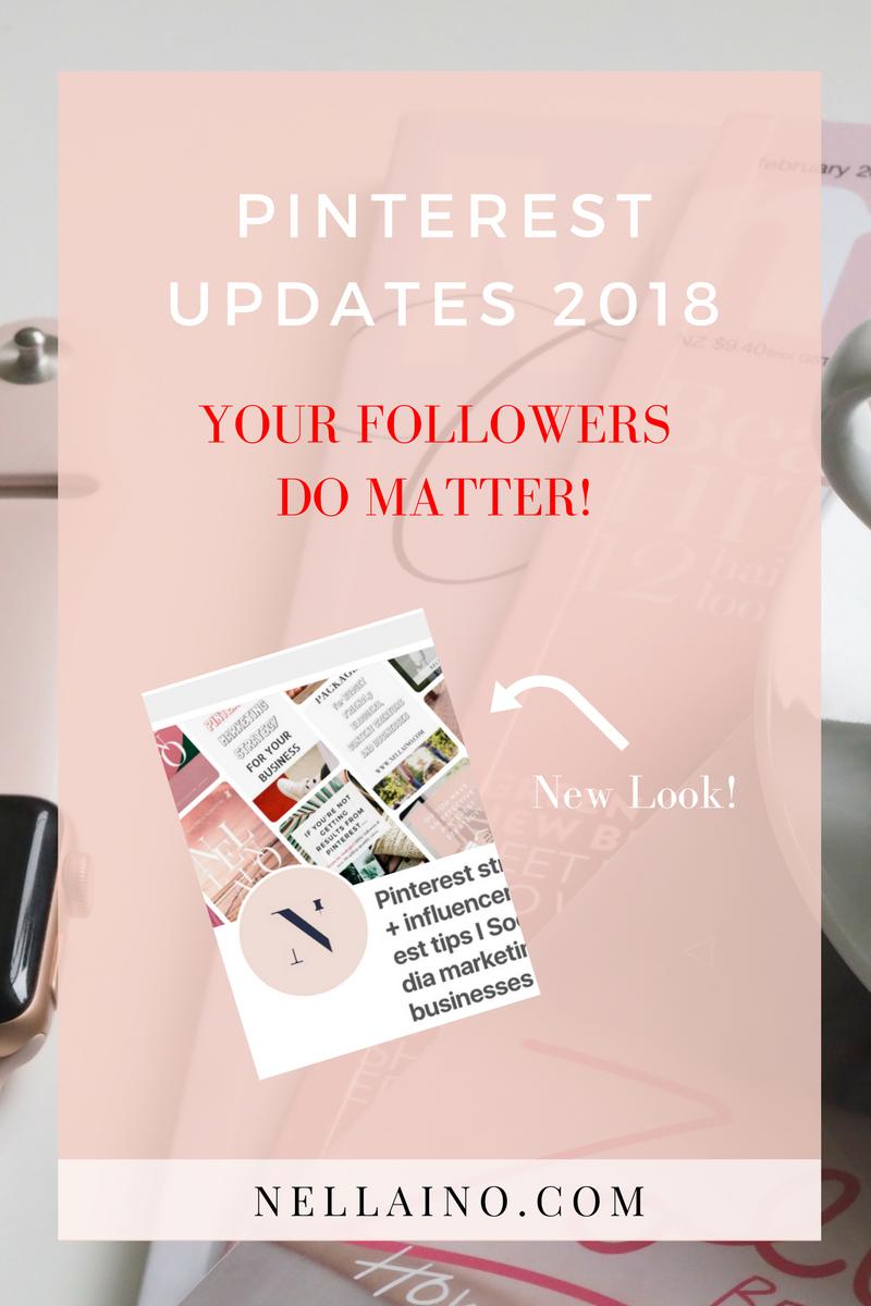 New Pinterest updates to better reach your followers on Pinterest. Read about new updates www.nellaino.com #visualmarketing #pinterestnews #pinterestupdate #pinterest2018 #pinteresthelp