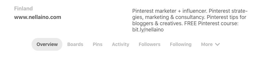 New Pinterest tabs Nellaino