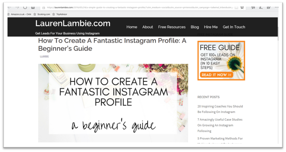 Instagram profile bio tips