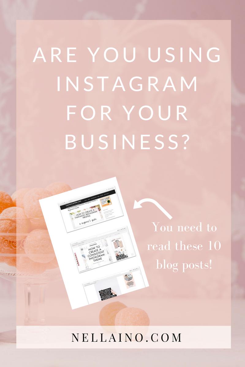 Instagram for business. Read the list of best Instagram blogs www.nellaino.com #instagram #pinteresthelp #instagrammarketing #instagramtips