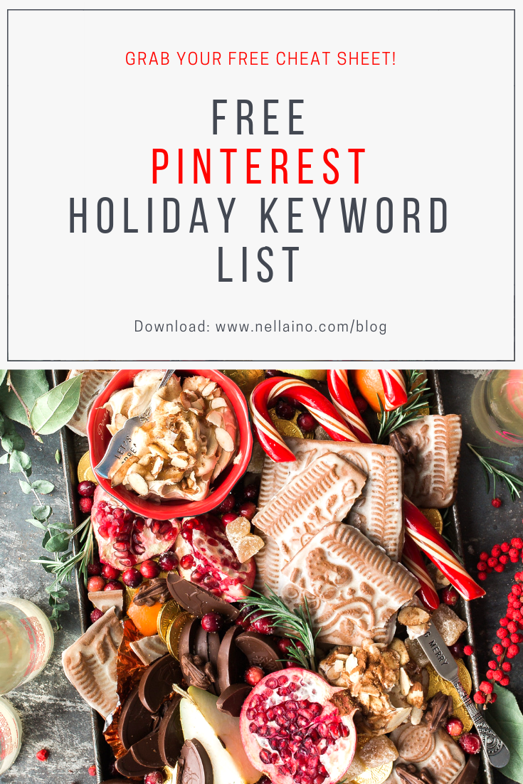 Pinterest for business keywords for your holiday pinning! Visit www.nellaino.com for more info!