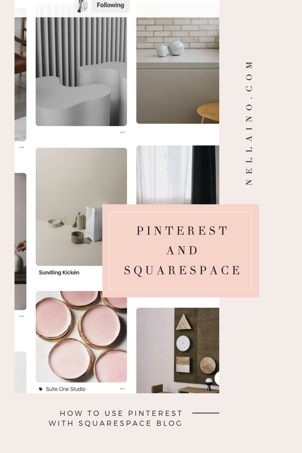 Have you troubles with Squarespace and how to use if for Pinterest SEO? No worry anymore! Read my blog post how you can optimize your Squarespace blog to better search engine optimization. www.nellaino.com/blog #nellaino #squarespacetips #pinteresttips #squarespacetutorial