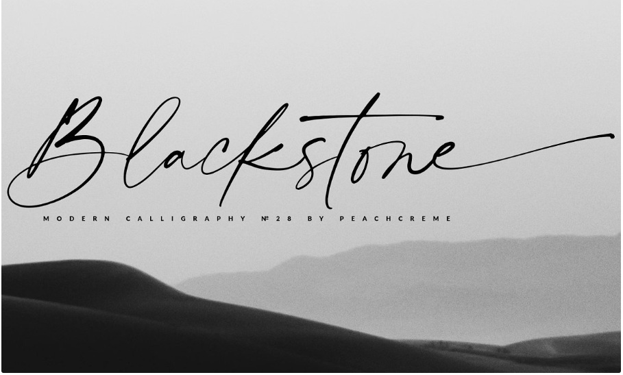 Blackstone// Casual Chic Font by PeachCreme