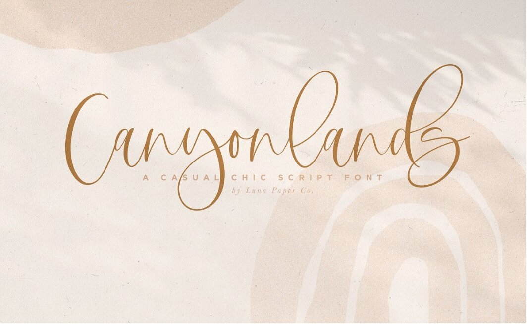 Canyonlands Script Font by The Styled Script