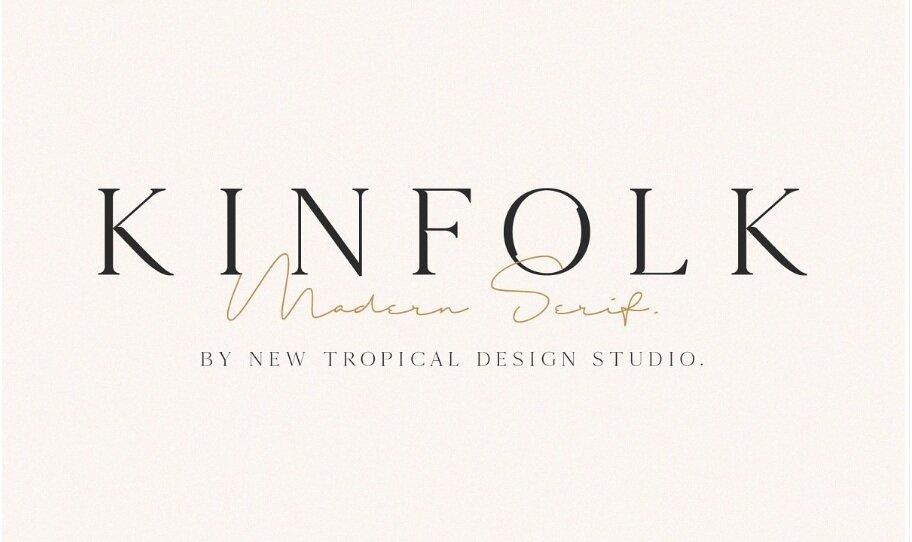 KINFOLK - Modern Serif Font by New Tropical Design