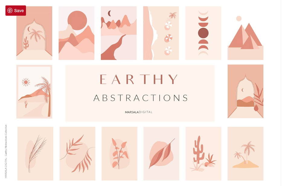 EARTHY Abstractions & Prints by Marsala Digital 2