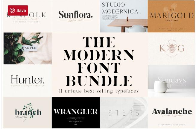 The Chic & Unique Modern Font Bundle by New Tropical Design