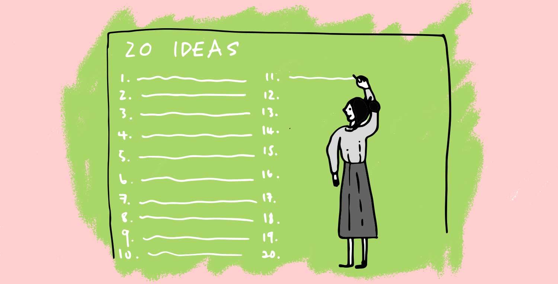 The '20 idea' method — 20courses.com