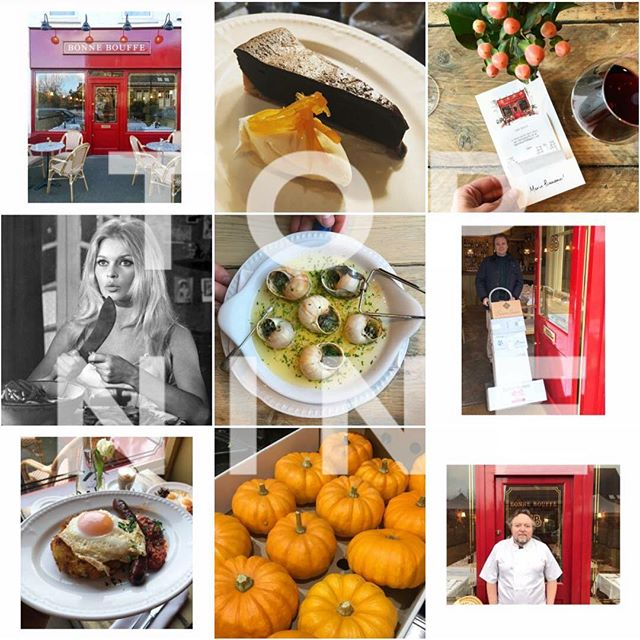LE TOP NEUF . . Happy New Year to you all! Here's Our Top Nine of 2018.... 1. Our Beautiful Red Facade at Bonne Bouffe 2. Chef Martin's famous Tarte au Chocolat 3. Our Bonne Bouffe Illustration receipt card holders (Merci @birdsebastian) 4. Brigitte Bardot (in the Kitchen ;) 5. Our Bonne Bouffe Escargots Bourguignon 6. Taking delivery of our French Wines 7. Bonne Bouffe Brunch favourite Rosti Merguez 8. Halloween October Pumpkins 9. ... And finally the legend that is Chef Martin (in a good mood) Merci Chef! 👏🏻#topnine #bonnebouffelondon #2018 #2019 #frenchrestaurant #happynewyear