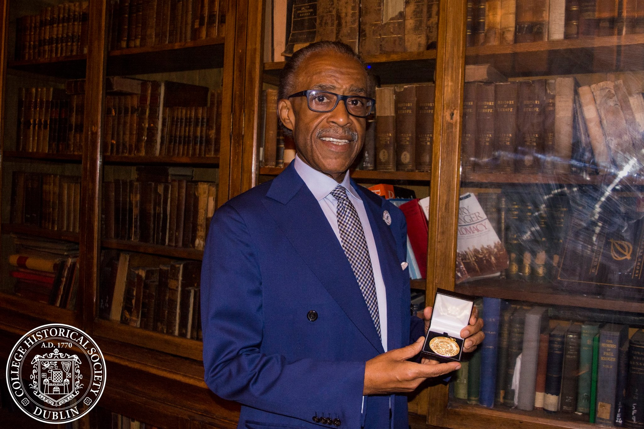 Al Sharpton awarded the Hist's Gold Medal for Outstanding Contribution to Public Discourse