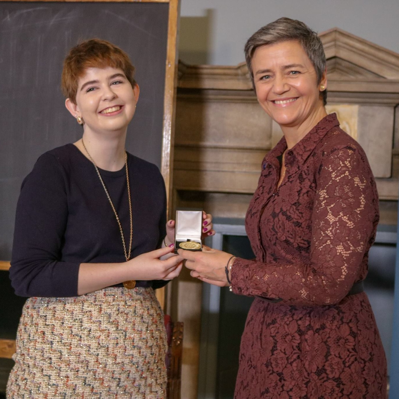 Margrethe Vestager awarded the Hist's Gold Medal Gold for her contribution to public discourse