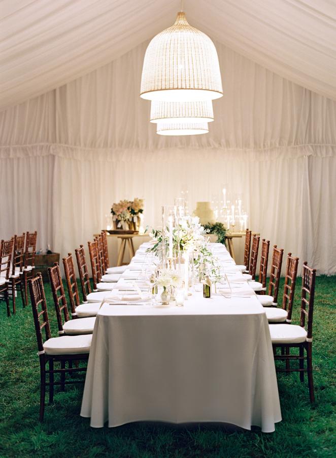 Elegant tented reception