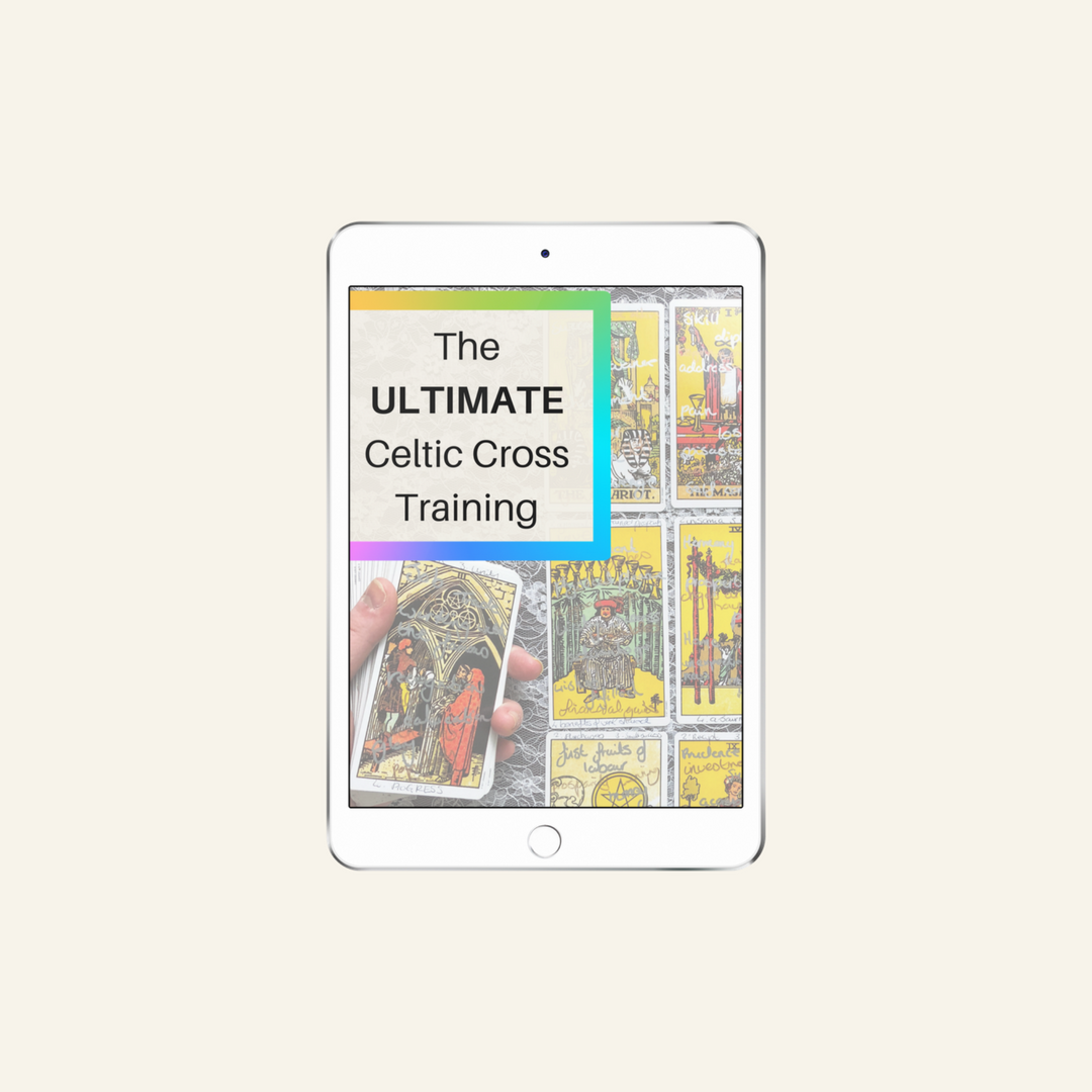 Learn how to read Tarot cards like a pro in this online course. - Celtic Cross Training.png